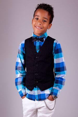 Portrait of a cute african american little boy Stock Photo - 17055178