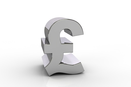 3d Pound Sterling Currency Symbol Over White Background Stock Photo