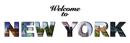 Welcome to New York text collage photo