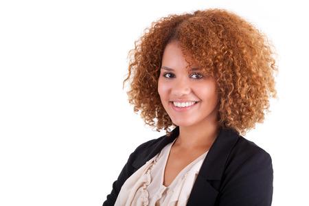 흑인 - 고립 젊은 아프리카 계 미국인 비즈니스 여자의 초상화 스톡 콘텐츠 - 22638965