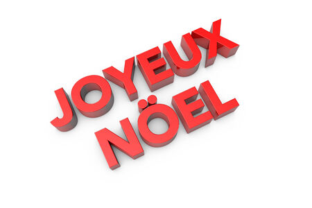 joyeux: 3d computer generated joyeux noel text
