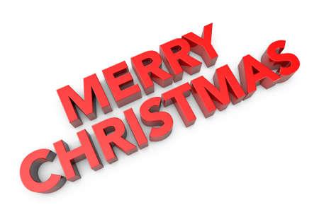merry christmas text: 3d generada por ordenador de texto Feliz Navidad Foto de archivo