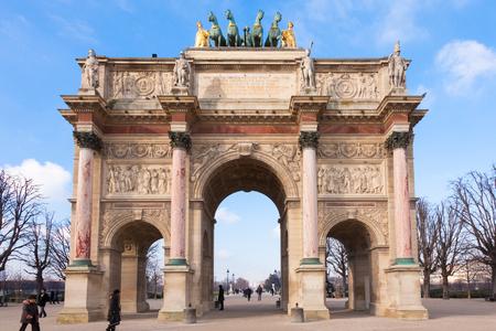 triumphal: Arc de triomphe du carrousel in Paris - France