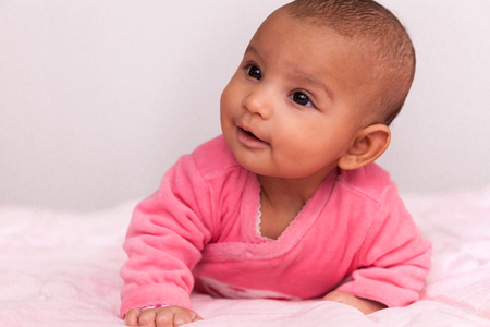 Adorable little african american baby girl - Black people photo