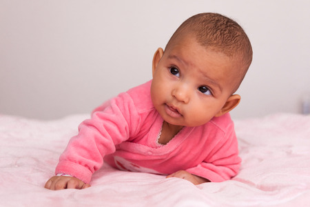 little baby: Adorable little african american baby girl - Black people