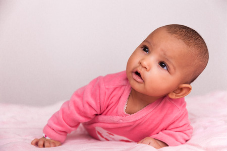 Adorable little african american baby girl - Black people photo