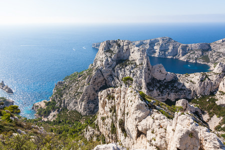 inlet bay: Calanques near Marseille and Cassis in south of France Stock Photo