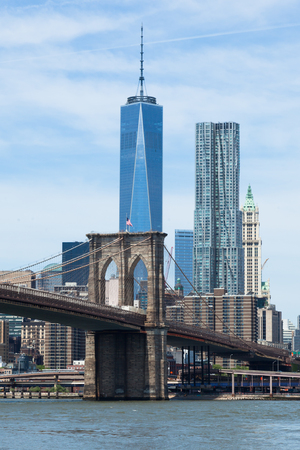 Lower Manhattan and Brooklyn bridge in New York - USA photo