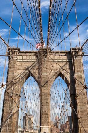 Brooklyn bridge in new york - USA photo
