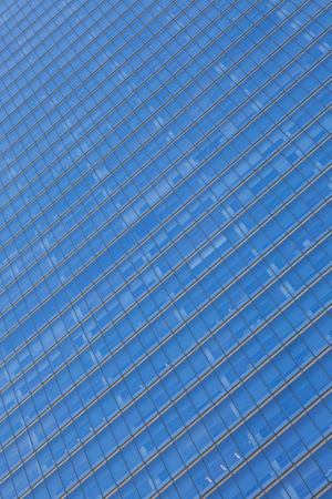 sky scrapers: Close up glass building detail in manhattan - New York USA Stock Photo