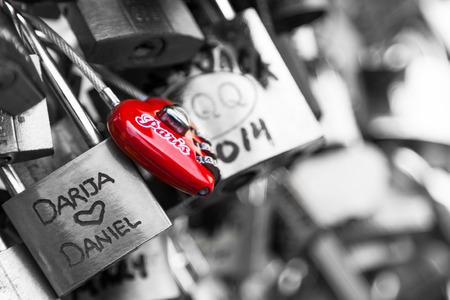 locks: Locks of Pont Des Arts in Paris, France - Love Bridge