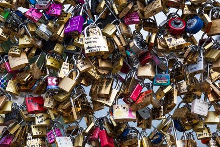 Locks of Pont Des Arts in Paris, France - Love Bridge photo