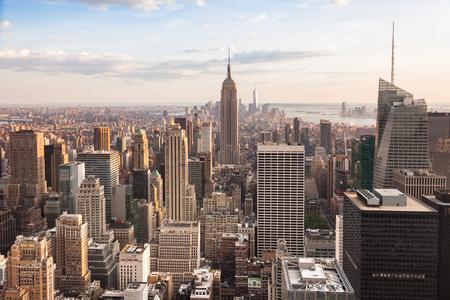 Vue de Manhattan à New York - USA Banque d'images