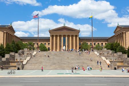 arte moderno: Filadelfia entrada del museo de arte - Pennsylvania - EE.UU. Foto de archivo