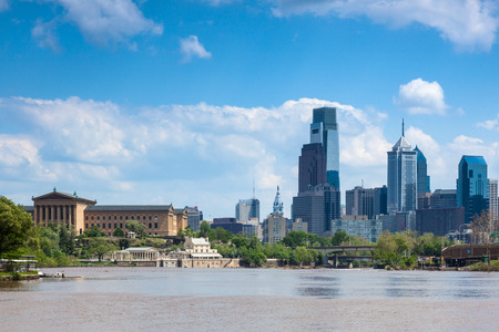 Skyline view of Philadelphia, Pennsylvania  - USA 스톡 콘텐츠