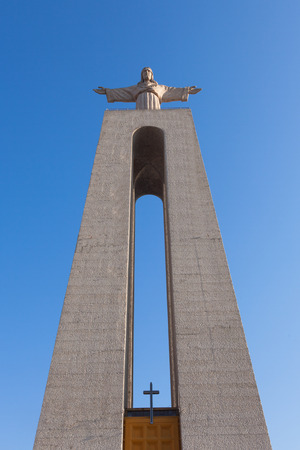 protection of the bible: Jesus Christ monument Cristo-Rei Lisboa in Lisbon, Portugal Editorial