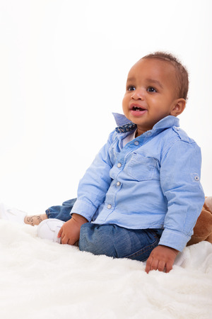 Portrait of a African American baby photo