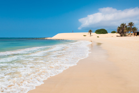 Chaves beach Praia de Chaves in Boavista Cape Verde - Cabo Verde Stock Photo