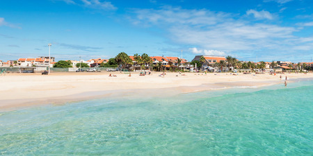 Panoramic view of Santa Maria beach in Sal Cape Verde - Cabo Verde photo
