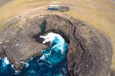 Aerial view of Buracona  in sal Island Cape Verde - Cabo Verde Imagens