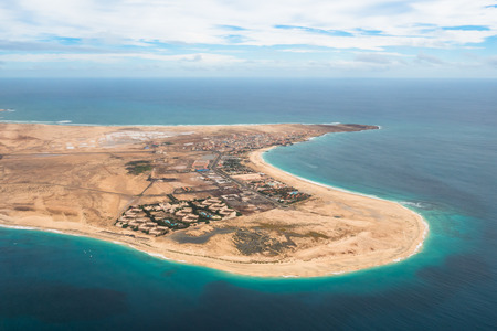 Aerial view of Santa Maria in Sal Island Cape Verde - Cabo Verde photo
