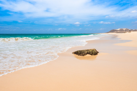praia: Verandinha beach Praia de Verandinha  in Boavista Cape Verde - Cabo Verde