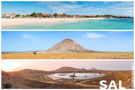 cape verde: Picture montage of Sal island landscapes  in Cape Verde archipel