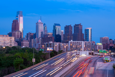 Philadelphia skyline by night - Pennsylvania - USA - United States of America photo