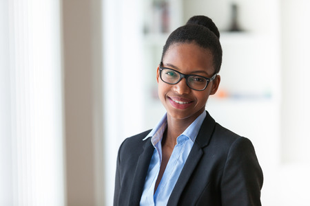 entrepreneur: Portrait of a young African American business woman - Black people Stock Photo