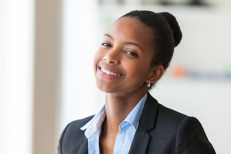 woman: Portrait of a young African American business woman - Black people Stock Photo
