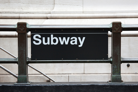 subway entrance: Subway entrance in manhattan - New York - USA