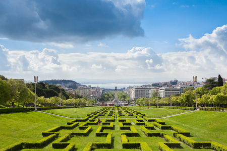 made in portugal: Edward vii park in Lisbon, Portugal