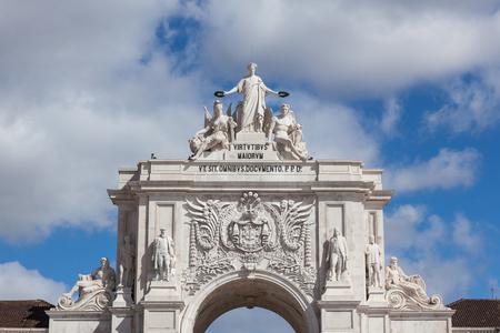 augusta: Augusta street Arch in Lisbon - Portugal