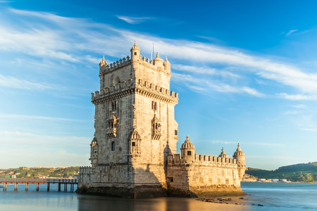 torre: Belem tower - Torre de Belem  in Lisbon, Portugal Editorial