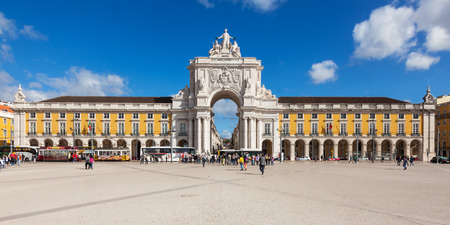 Commerce square - Praca do commercio in Lisbon - Portugal Stock Photo