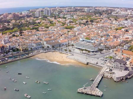 Aerial view of Cascais coastline near Lisbon in Portugal 스톡 콘텐츠