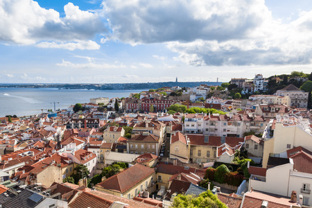 viewpoints: Lisbon rooftop from Sao Vicente de Fora church viewpoint  in Portugal