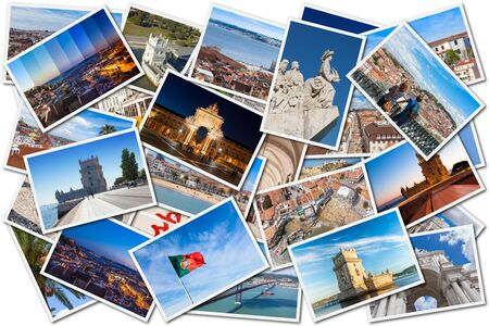Picture Mosaic collage of  Lisbon city in Portugal photo