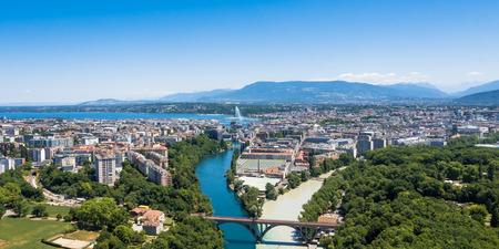 aerial animal: Aerial view of  Geneva city in Switzerland