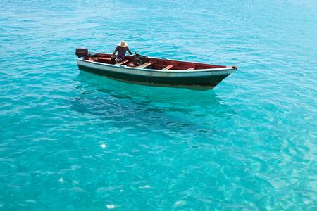 santa maria: Traditional fisher boat in Santa Maria  in Sal Island in Cape Verde - Cabo Verde