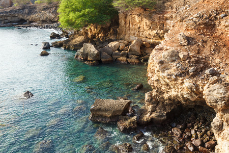 santiago cape verde: Tarrafal wild coastline in Santiago island in Cape Verde - Cabo Verde