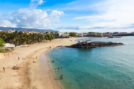 Tarrafal beach in Santiago island in Cape Verde - Cabo Verde 版權商用圖片
