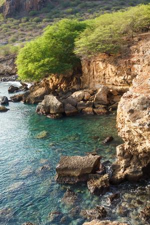 Tarrafal wild coastline in Santiago island in Cape Verde - Cabo Verde