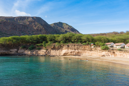barlavento: Tarrafal beach in Santiago island in Cape Verde - Cabo Verde Stock Photo