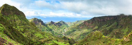 island: Serra Malagueta mountains in Santiago Island Cape Verde - Cabo Verde