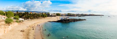 santiago cape verde: Panoramic view of Tarrafal beach in Santiago island in Cape Verde - Cabo Verde