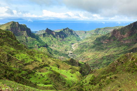 Serra Malagueta mountains in Santiago Island Cape Verde - Cabo Verde