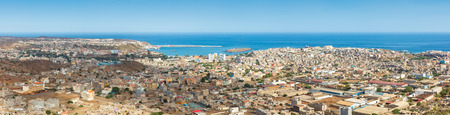 shantytown: Panoramic view of Praia in Santiago - Capital of Cape Verde Islands - Cabo Verde