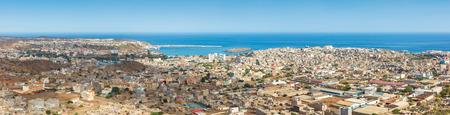 Panoramic view of Praia in Santiago - Capital of Cape Verde Islands - Cabo Verde