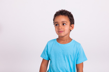 brazilian caribbean: Portrait of a cute little African American boy smiling